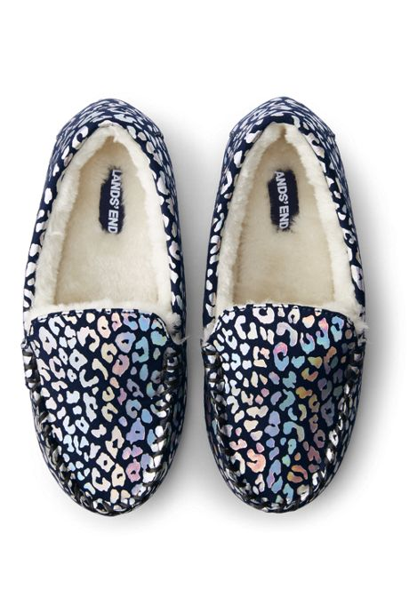 Kids Pattern Moccasin Slippers