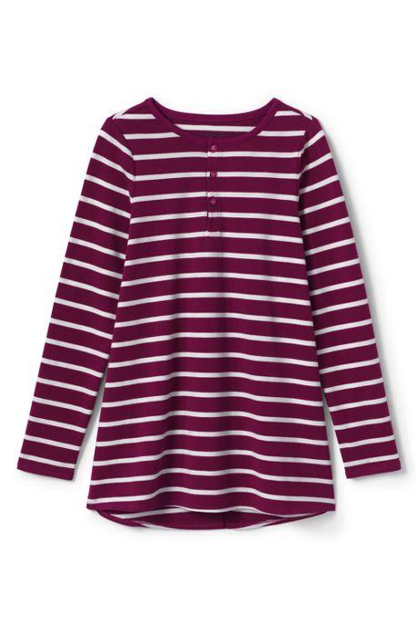 Little Girls Stripe Henley Tunic Top