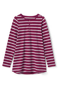 Girls Stripe Henley Tunic Top