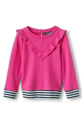Le Sweatshirt à Volants Manches Longues, Petite Fille