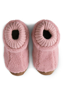 Kids' Sherpa Fleece Bootie Slippers