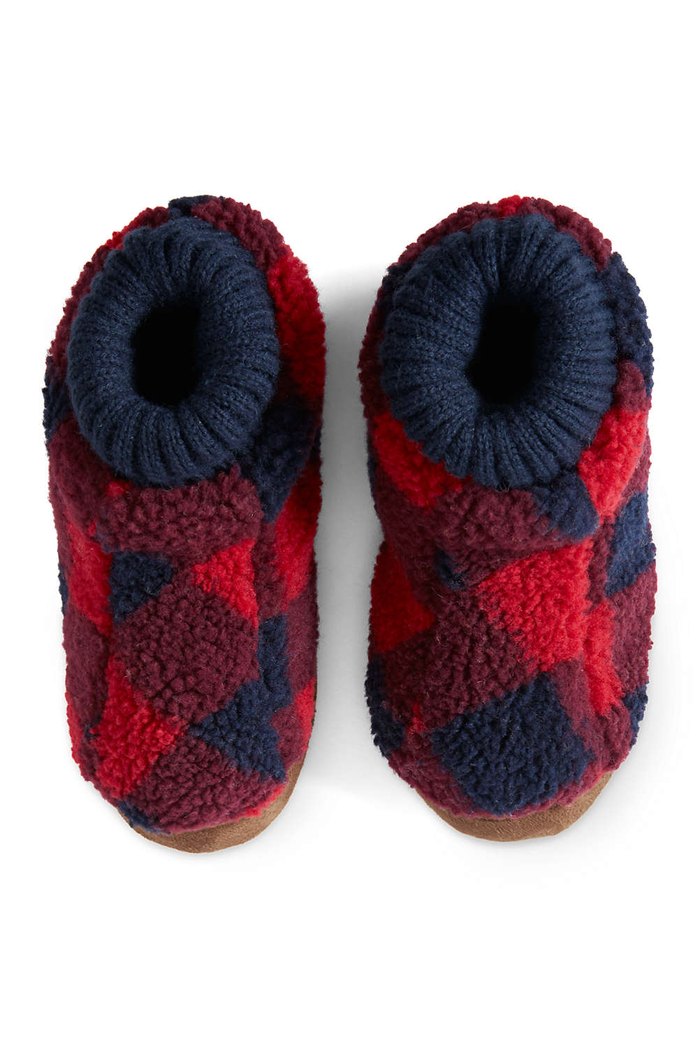 22358371f Toddlers Sherpa Fleece Bootie Slippers from Lands  End
