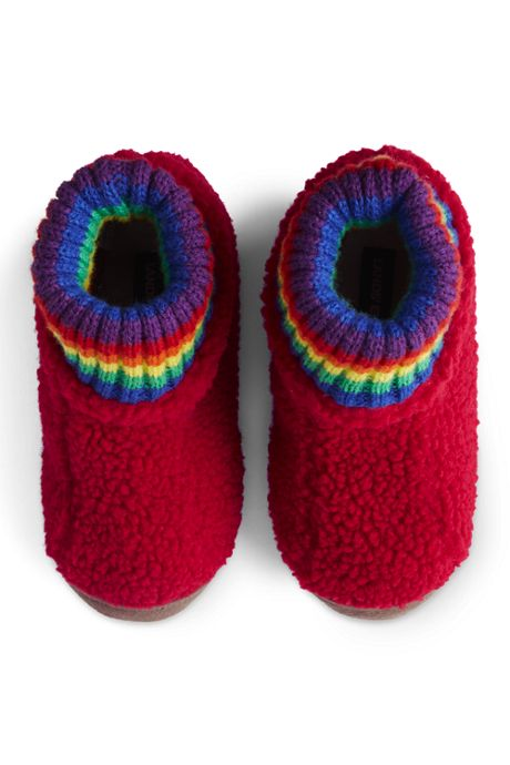 Kids Sherpa Fleece Bootie House Slippers