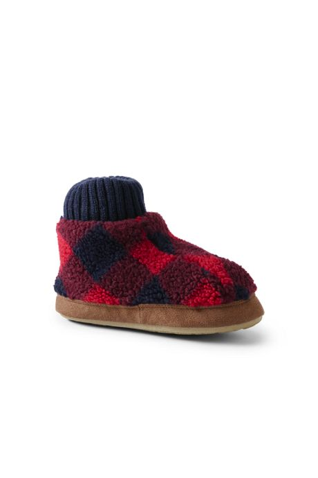 Toddlers Sherpa Fleece Bootie Slippers