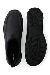 School Uniform Men's All Weather Leather Slip On Moc Shoes, Unknown