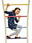 Le Legging 7/8 Rayé à Genoux Renforcés, Toute Petite Fille