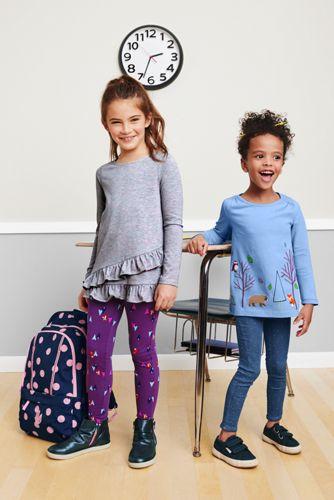 Little Girls Iron Knee Ankle Length Leggings