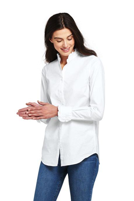 Women's Ruffle Oxford Shirt