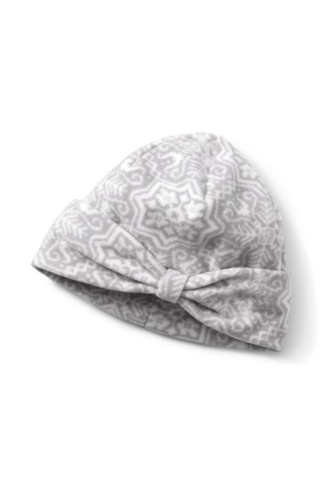 Women's 100 Fleece Pattern Bow Beanie