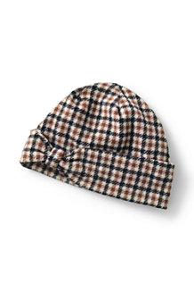 Women's Fleece Patterned Bow Beanie Hat