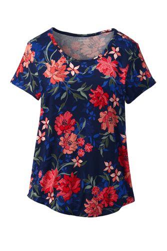 Gemustertes Shirt aus Bambusviskose für Damen