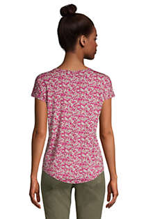 Women's Petite U-neck Jersey T-shirt, Back