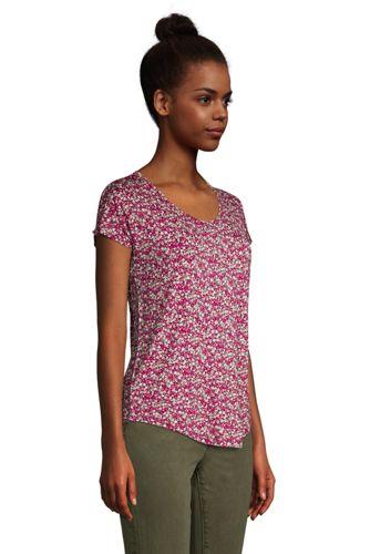 Women's Petite U-neck Jersey T-shirt