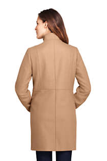 Women's Tall Fit and Flare Long Wool Coat, Back