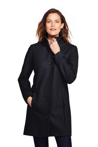 Women's Fit & Flare Wool Blend Coat