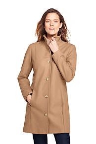 8e0f06185f8 Women s Fit and Flare Long Wool Coat