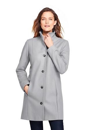a308e0805a Women's Fit & Flare Wool Blend Coat