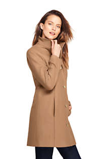 Women's Tall Fit and Flare Long Wool Coat, Unknown