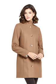 Women's Tall Fit and Flare Long Wool Coat