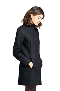 Women's Petite Fit and Flare Long Wool Coat, Unknown
