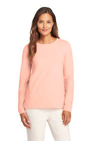 Women's Petite Long Sleeve Sweatshirt French Terry