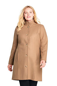 81be12b1e9c Women s Plus Size Fit and Flare Long Wool Coat