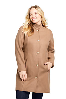 Le Manteau en Laine Mélangée, Femme