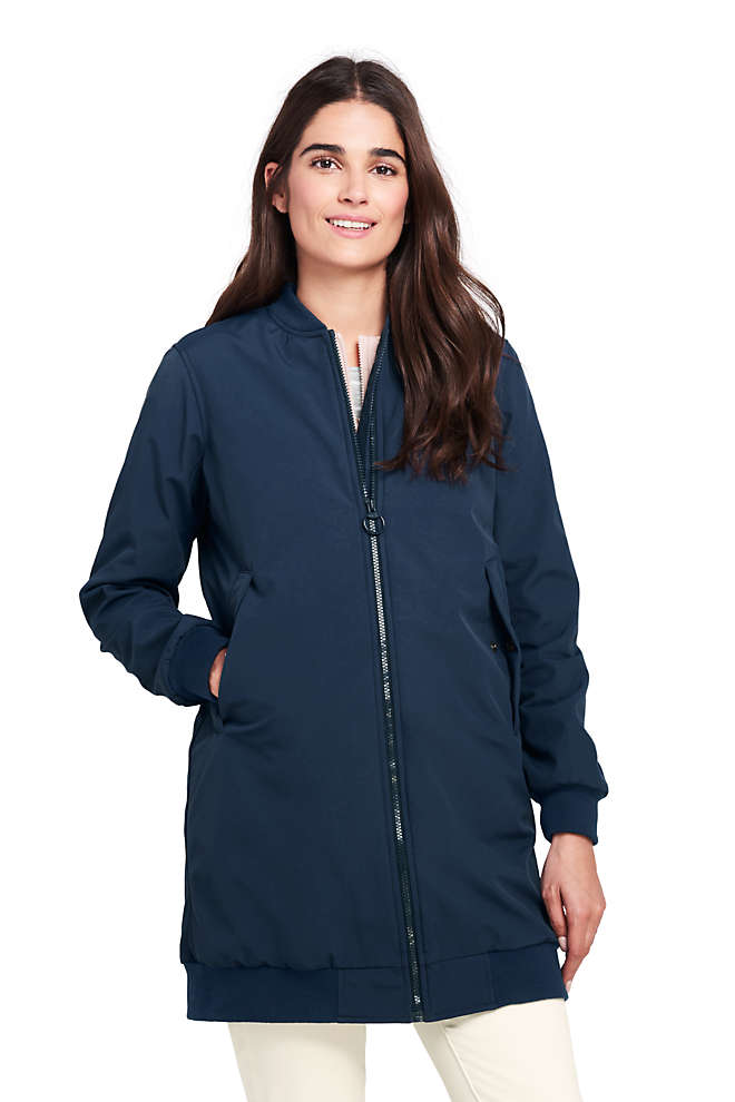 Women's 3 in 1 Bomber Long Squall Coat, Front