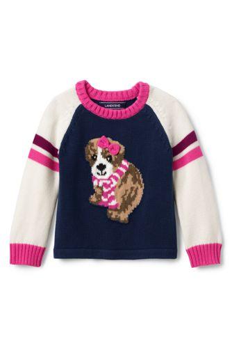 Toddler Girls' Jumper with puppy motif