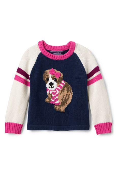 Toddler Girls Crewneck Sweater