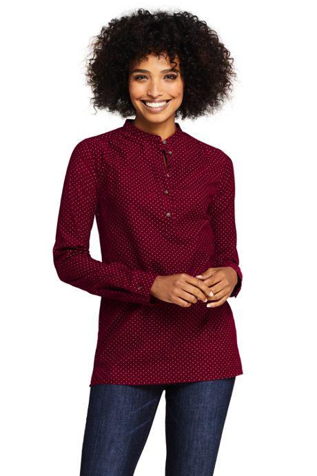 Women's Print Pinwale Popover Corduroy Shirt
