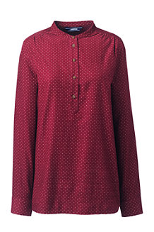 Women's Patterned Pinwale Cord Popover
