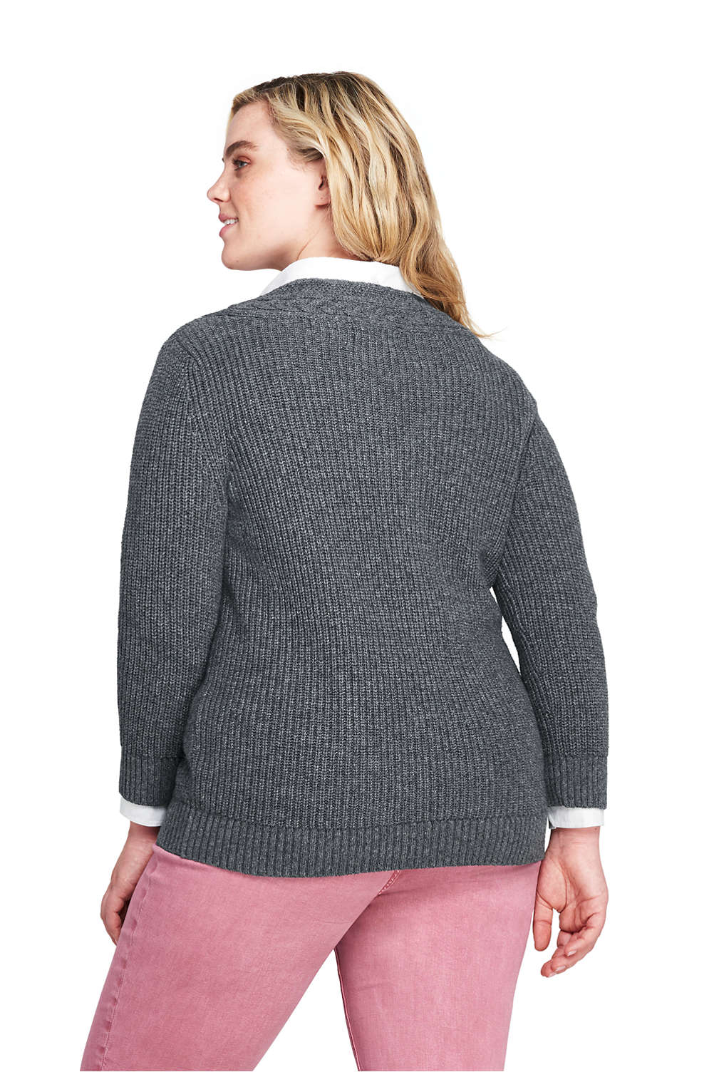 609209fdc76 Women s Plus Size Lofty Blend 3 4 Sleeve V-neck Tennis Sweater from ...