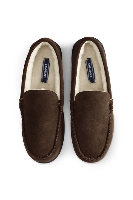 Men's Suede Leather Moccasin Slippers