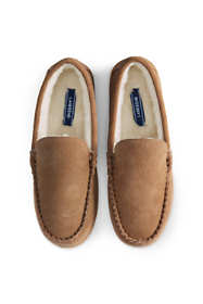 School Uniform Men's Suede Leather Moccasin Slippers