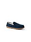 Men's Suede Moccasin Slippers with Faux Fur Lining