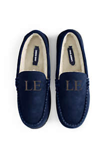 Men's Suede Leather Moccasin Slippers, alternative image