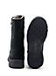 Les Bottes Zippées en Daim Doublées Polaire, Femme Pied Standard