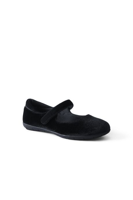 Girls Velvet Comfort Mary Jane Ballet Flats