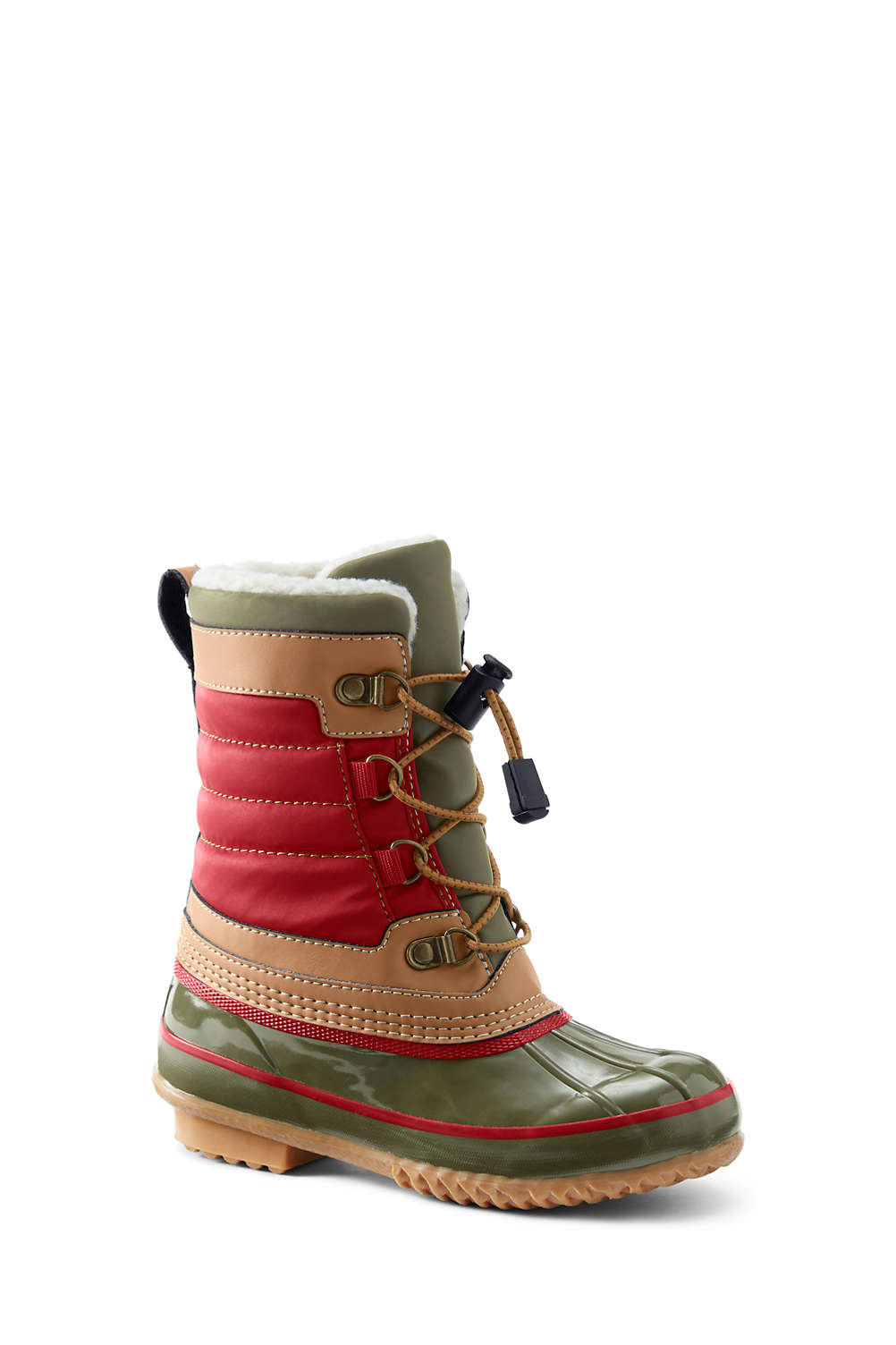 06703604953 Kids Lined Winter Duck Boots from Lands  End