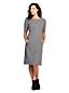 Women's Plus Shift Dress in Ponte Jersey, Jacquard