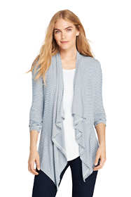 Women's Stripe Cascade Knit Cardigan