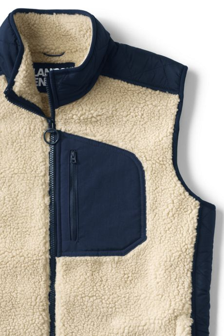 Men's Sherpa Fleece Hybrid Vest