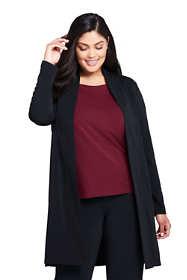 Women's Plus Size Matte Jsy Cardigan