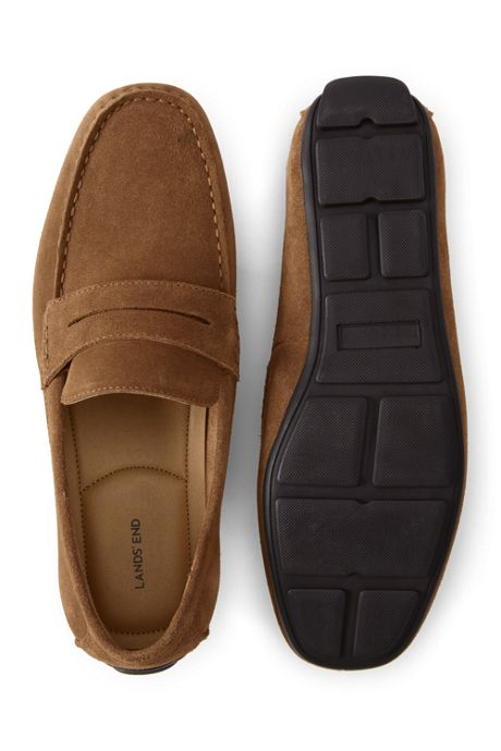 Men's Suede Penny Driving Shoes