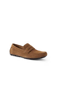 School Uniform Men's Suede Penny Driving Shoes