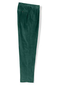 Men's Comfort Waist Pleat Front Comfort-First 10 Wale Corduroy Trousers