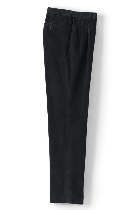 Men's Long Comfort Waist Pleated Comfort-First 10 Wale Corduroy Dress Pants