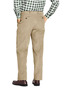 Men's Comfort Waist Pleated Comfort-First 10 Wale Corduroy Dress Pants, Back