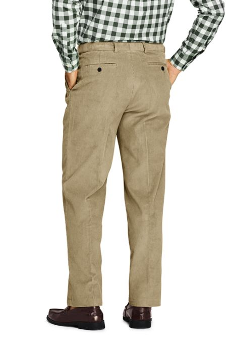 Men's Comfort Waist Pleated Comfort-First 10 Wale Corduroy Dress Pants